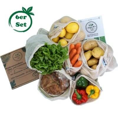 Wiederverwendbare Obst- und Gemüsebeutel